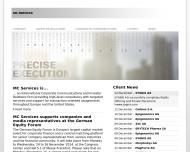 Bild Webseite MC Services Aktiengesellschaft München