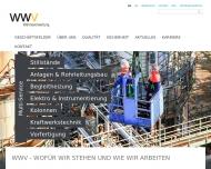 Bild Webseite WWV Wärmeverwertung Verwaltungs Bremen