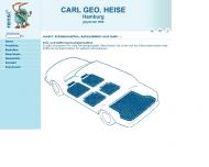 Bild Webseite Carl Geo. Heise Hamburg
