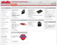 Bild Webseite büroTec M. Giese Hamburg