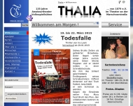 Bild Webseite Volksspielbühne Thalia von 1879 Hamburg