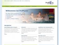 Bild Webseite ProPhysio Köln