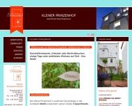 Bild Webseite Kleiner Prinzenhof Berlin