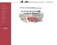 Bild Webseite Hasler Immobilien München