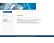Bild Webseite recon-marketing Heilbronn