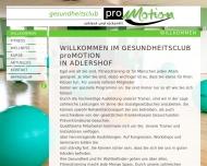 Bild Webseite pro motion fitness Berlin