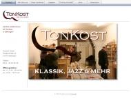 Bild Webseite TonKost Göttingen