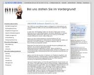 Website Verwaltung Univision Software