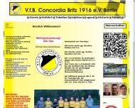 Bild Webseite VfB Verein für Bewegungsspiele Concordia Britz 1916 Berlin