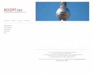 Bild Webseite ACCEPT Unternehmensberatung Berlin