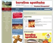 Bild Webseite Berolina Apotheke Inh. Helmut Hoffmann Berlin