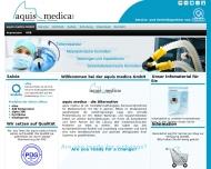Bild Webseite aquis medica Aachen