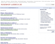 Website Private Alten- und Pflegepension Rosenhof