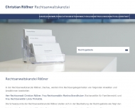 Bild Webseite Christian Rößner Rechtsanwaltskanzlei Dachau