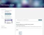 Bild Webseite EAS Elektro- und Automatisierung Systeme Bremen Bremen