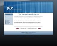 Bild Webseite DTX Außenhandels Hamburg