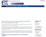 Bild Webseite ECL Euro-Cargo-Logistik Kontor Hamburg