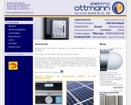 Bild Webseite Elektro Ottmann Verwaltung Spalt