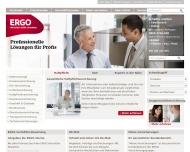 Bild Webseite ERGO Versicherung  und Finanzierung Vermittlung Hamburg