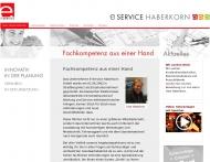 Bild Webseite E-Service Haberkorn Harzgerode