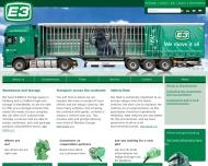 Bild Webseite E 3 Spedition Transport Hamburg Hamburg