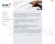 Website EVN Ingenieurgesellschaft