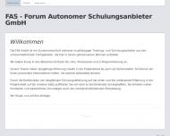 Bild Webseite FAS Forum Autonomer Schulungsanbieter München