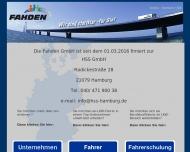 Bild Webseite Fahden Speditionsdienstleistung Hamburg