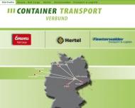 Bild Webseite Finsterwalder Transport und Logistik Halle