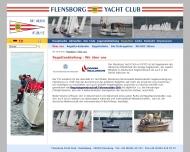 Website Flensborg-Yacht-Club