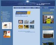 Bild Webseite ELEKTROMA Elektromontagen Dessau-Roßlau