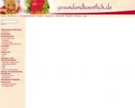 Bild Webseite gesundundkoestlich Hamburg