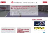 Bild Webseite Hamburger Tennis-Verband Hamburg