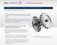 Bild Webseite HBV Hanseatic Dienstleistung West Hamburg