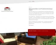Bild Webseite IKOS Immobilien und Projektentwicklung Berlin