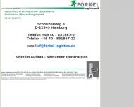 Bild Webseite Forkel Logistics Hamburg