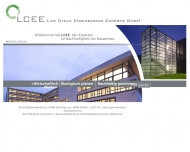 Bild Webseite LCEE Life Cycle Engineering Experts Darmstadt