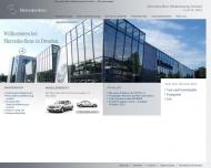 Website Mercedes-Benz Lackzentrum Dresden Gesellschaft
