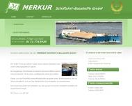 Bild Webseite Merkur-Schiffahrt-Baustoffe Berlin