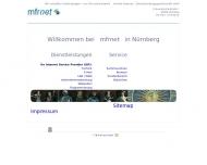 Bild Webseite mfrnet Internet-Dienstleistungsgesellschaft Nürnberg