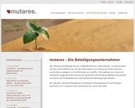 Bild Webseite mutares München