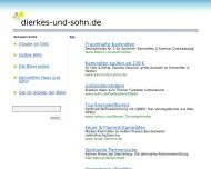 Bild Webseite DIERKES & SOHN Dortmund