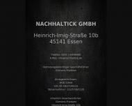Bild Webseite NachhalTick Essen