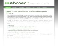 Bild Webseite Ohrner IT Aachen