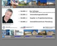 Bild Webseite Olsen Kapital- & Projektentwicklung Flensburg