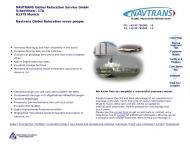 Bild Webseite Navtrans Global Relocation Service München