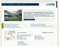 Bild Webseite OPM Steuerberatungsgesellschaft Aachen