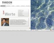 Bild Webseite PANDION ufficio Projektverwaltung Köln