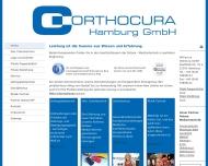 Bild Webseite Orthocura Hamburg Hamburg