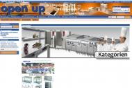 Bild Webseite open up Warenvertriebsgesellschaft Hamburg